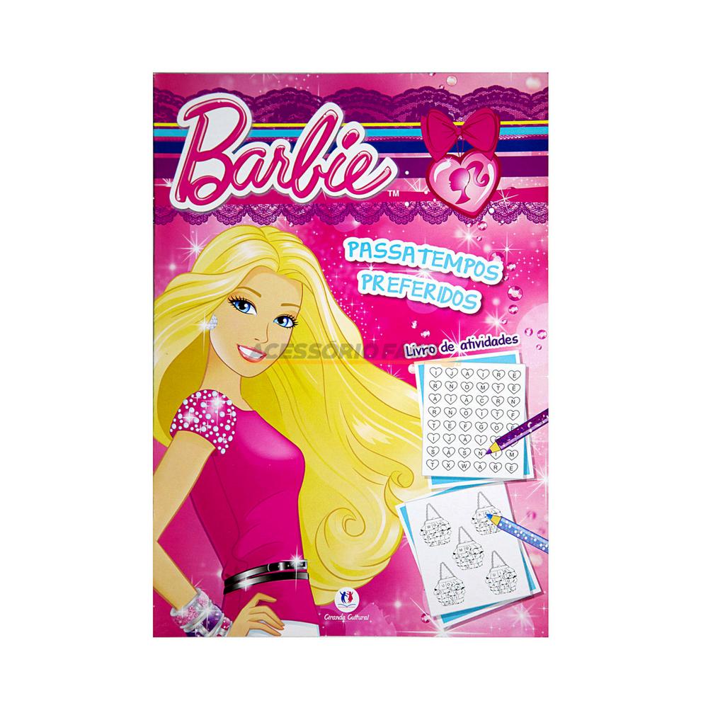 Kit Com 02 Livros Barbie Atividades E Colorir Acessorio Facil